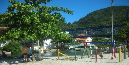 Barra da Lagoa - Cruzando el puente