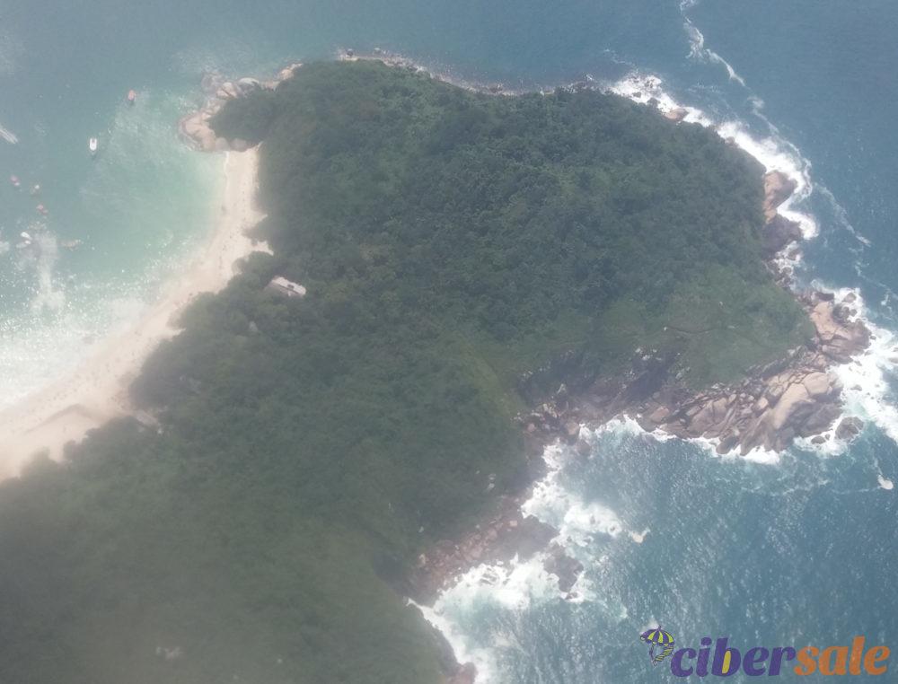Ilha do Campeche vista desde el avión