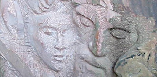 escultura en piedra arenisca